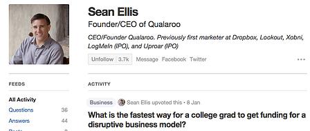 Quora User Profile